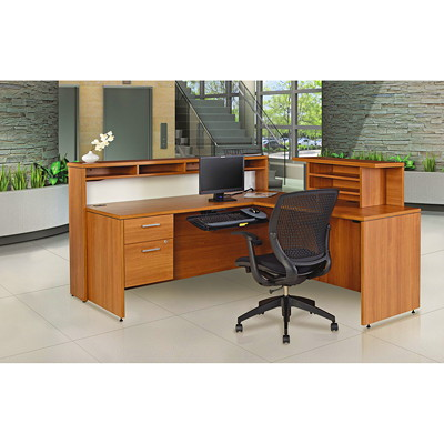 Offices To Go Ionic Reception Suite, Winter Cherry  WINTER CHERRY FINISH