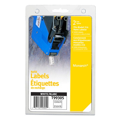 Avery Hand Labeler Refills 1250 LABELS PER ROLL 4ROLLS/PK AVERY