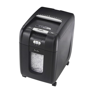 Swingline Stack and Shred Cross-Cut Shredder CROSS CUT 230 SHEETS SHRED SIZE .25MM X 1.75MM 9GAL