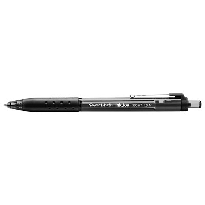 Paper Mate InkJoy 300 Retractable Black Ink Pens, Medium, 1.0 mm 1.0MM