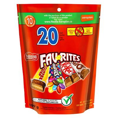 Nestlé Favorites Fun-Size Chocolate Bars BOX OF 20 MINI SIZE KITKT SMARTIES CFFEECRIP AERO