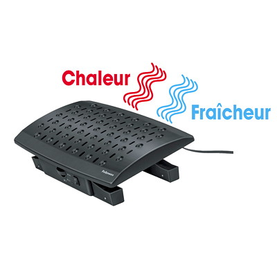 Fellowes Climate Control Footrest With Microban Antimicrobial Protection  FOOTREST WITH HEATER
