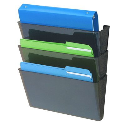 Deflecto Sustainable DockPocket Letter-Size File Pocket MINIMUM 50% RECYCLED CONTENT SET OF 3