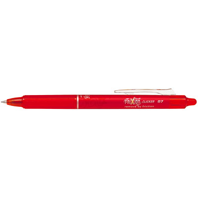 Pilot FriXion Clicker Retractable Erasable Gel Pens RED RETRACTABLE  ERASABLE