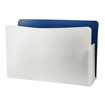 """Winnable Legal-Size Expanding Poly File Pockets LEGAL 9.5"""" X 15""""   3 1/2"""" EXPA DARK BLUE"""