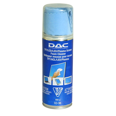 DAC TFT/LCD Monitor Foam Cleaner FORMS PROTECTIVE  ANTI-STATIC ANTI-SMUDGE COATING