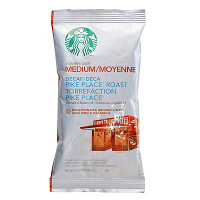 Starbucks Ground Coffee Portion Pack 2.5OZ PACKS  BOX OF 18