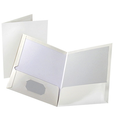 Oxford Showfolio Laminated Twin-Pocket Folders LETTER