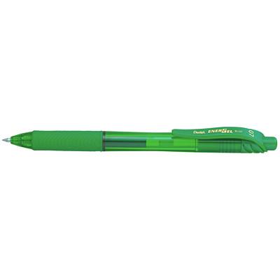Pentel EnerGel-X Retractable Liquid Gel Pen, Green, Medium, 0.7 mm ROLLER BALL PENS