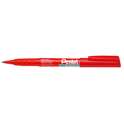Pentel Green-Label Recycology Permanent Markers XYLENE AND TOULENE FREE LOW ODOR