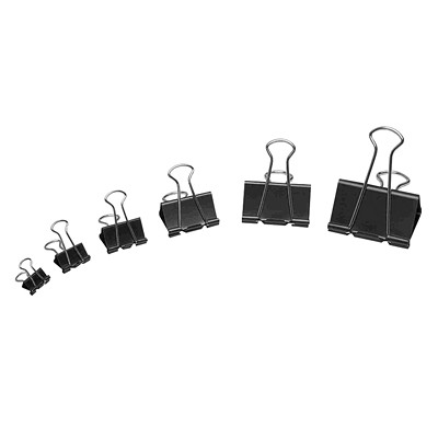 "Westcott Sure-Grip Triangular Fold Back Binder Clips, Black/Silver, 1 1/4"", 12/PK BLACK 12/PK"