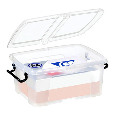 CEP Strata Polypropylene Smart Box 12 LITRE STORAGE CAPACITY SPLIT LID WITH LOCKING HANDLES