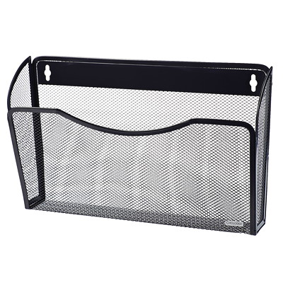 Rolodex Mesh Wall Black File Pocket