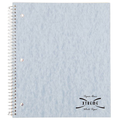 Blueline National Extreme White Stuffer Notebook 1 SUBJECT 200 PAGES 11X8.87 3HP  100 SHEETS