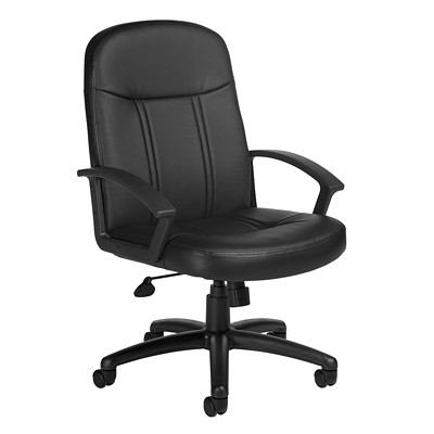 Offices To Go Altona High-Back Tilter Chair, Black, Luxhide Bonded Leather