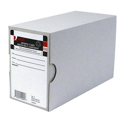 "Acco Arch File Binding Cases, Grey, #5, Prescription-Size 8-3/8 "" X 3-1/2 "" X 5-1/8 "" 3.5"" CAPACITY"