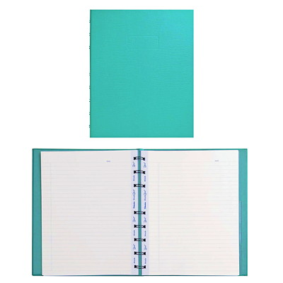 Blueline MiracleBind Notebook TWIN-WIRE BINDING  HARD COVER AQUA  9-1/4 X 7-1/4  150P.