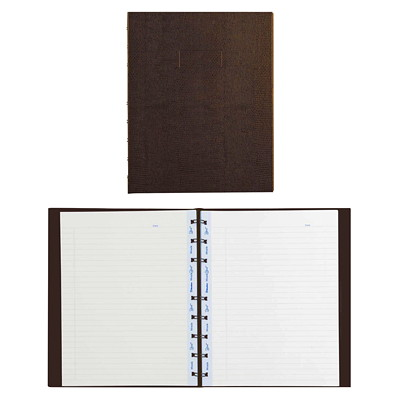 Blueline MiracleBind Notebook TWIN-WIRE BINDING  HARD COVER BROWN  9-1/4 X 7-1/4  150P.