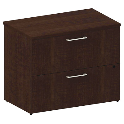 "36"" 2 DRAWER LATERAL FILE MOCHA CHERRY"