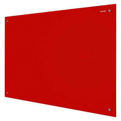 Quartet Infinity Magnetic Dry-Erase Glass Board RED