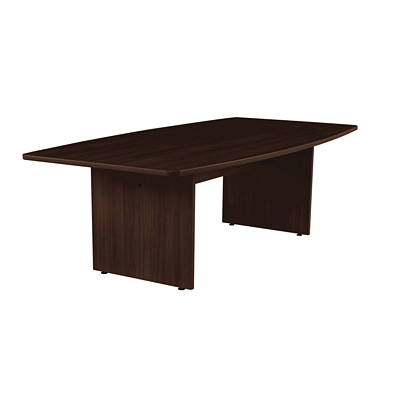 Offices To Go Ionic Boat-Shaped Conference Room Table BOATSHAPED -DARK ESPRESSO