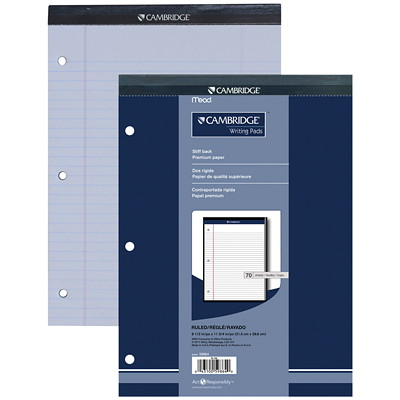 Cambridge Office Pad LINED-TOP BOUND PERF SHEETS 70 SHEETS PAD
