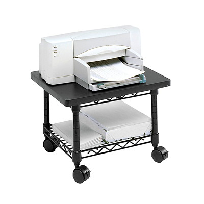 Meuble d 39 imprimante t l copieur placer sous un bureau for Meuble imprimante