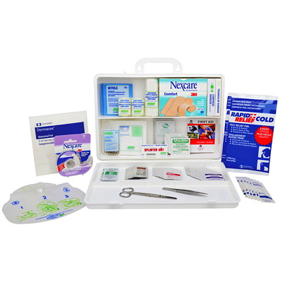 Nexcare Deluxe 174-Piece First Aid Kit 174 PIECES INCLUDED