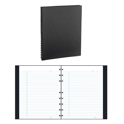 EcoLogix Executive Notebook BLACK HARD COVER  150 PGS TWIN WIRE BINDING 100% PCP