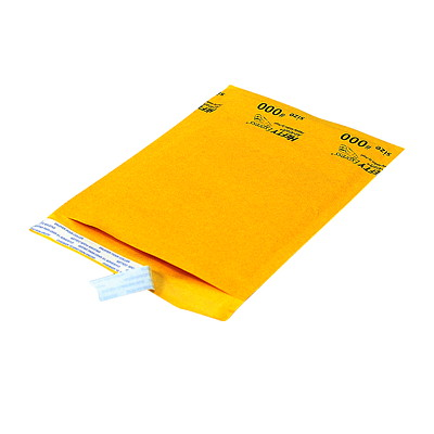 "Air-Kraft Self-Adhesive Kraft Bubble Mailers INTERNAL DIM: 4 1/4''X7 1/8"" EXTERNAL DIM: 5""X7 5/8"""