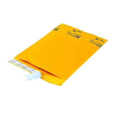"""Ecolite Self-Adhesive Bubble Mailers, Kraft, #0, 25/CT INTERNAL DIM: 6 1/4''X9 1/8"""" EXTERNAL DIM: 7""""X9 5/8"""""""