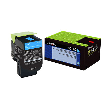 Lexmark Laser Cartridge CYAN - RETURN PROGRAM 4 000 PAGE YIELD