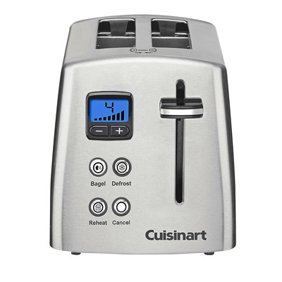 Cuisinart Stainless-Steel 2-Slice Toaster INCL. COUNTDOWN DISPLAY