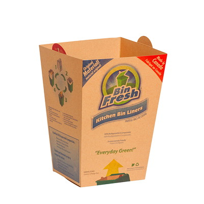 KITCHEN BIN LINERS-BOX OF 210 FOR GREEN MINIBIN 100% COMPOSIABLE PAPERBOARD