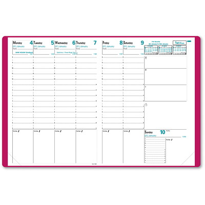 Quo Vadis Prenote Weekly Appointment Planner PRENOTE  TOSCANA COVER  PINK