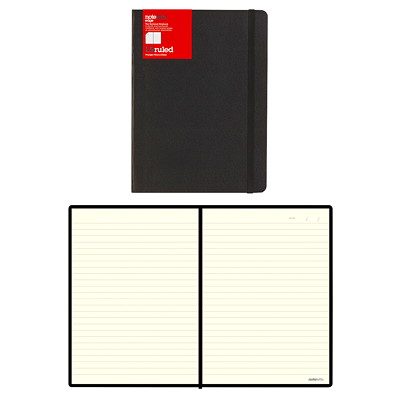 "Letts Edge 8 1/4"" x 5 13/16"" Black Notebook 192 RULED PAGES  CREAM PAPER 8 1/4"" X 5 13/16"""