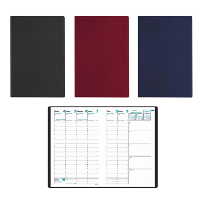 "Quo Vadis Minister Weekly Planner, 6 1/4"" x 9 1/2"", Assorted Colours, December 2018 - December 2019, English 6 1/4 X 9 1/2 BLK BURG BLU ENGLISH 37% PCW"