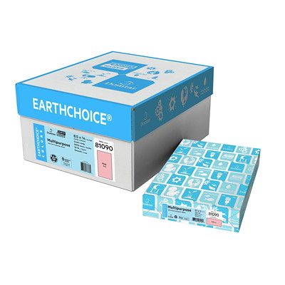 EarthChoice Colors Multi-Purpose Paper 20LB LEGAL ACID FREE LASER 30% PCF SFI CERTIFIED