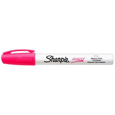 Sharpie Oil-Based Opaque Paint Marker, Pink, Medium Tip