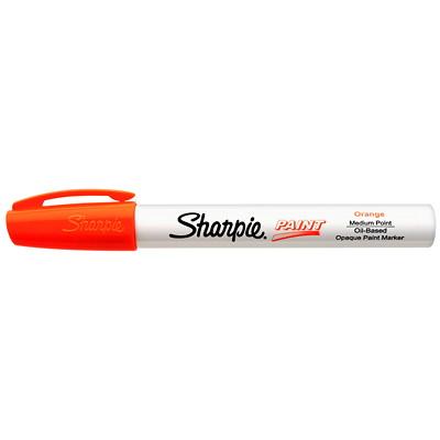 Sharpie Oil-Based Opaque Paint Marker, Orange, Medium Tip