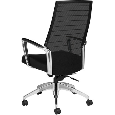Global Accord High-Back Tilter Chair, Black, Jenny Fabric GLOBAL