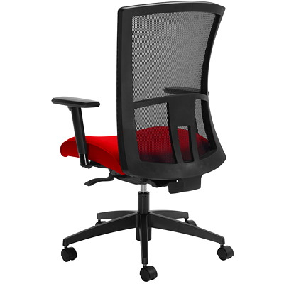 Global Vion Weight-Sensing Synchro-Tilter High-Back Chair, Candy Apple Red, Imprint Fabric IMPRINT GR 4 CANDY APPLE IM74