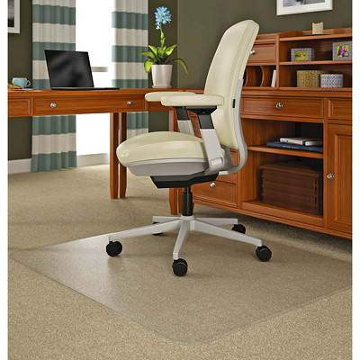 Deflecto RollaMat Chairmat FOR MED PILE CARPET 4MM THICK  HEAVY VNYL