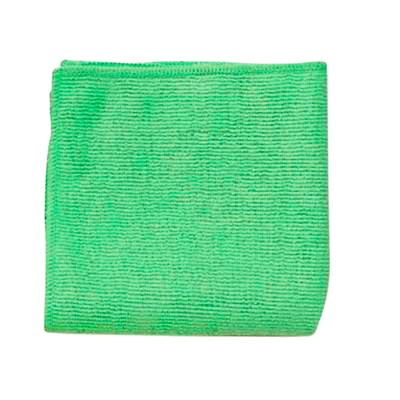 "Rubbermaid Commercial Light Duty Microfibre Cloth, Green, 12"" x 12"", 24/PK 12""X12"""