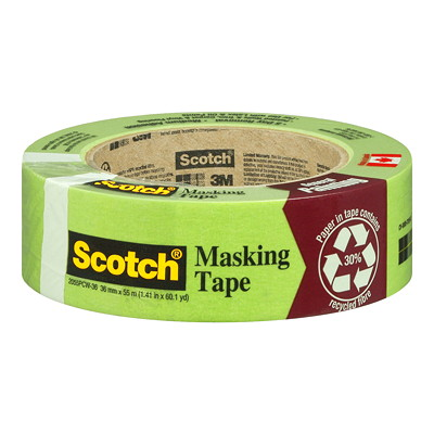 Scotch Recycled Masking Tape CONTAINS 30% POST CONSUMER CONTENT