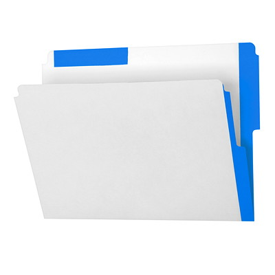 Pendaflex Top & End Tab Shelf Folders with Colour Stripes 10-1/2 PT FULLY BLEACHED KRAFT 1/2 TAB  10% PCW