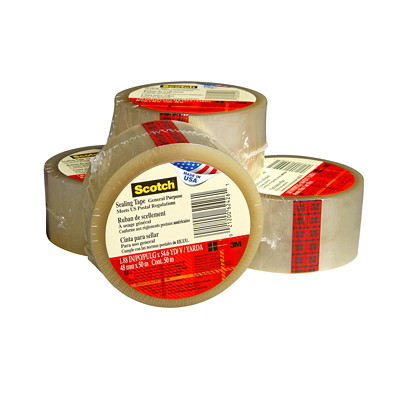 Scotch Shipping Packaging Tape 3710 BULK  48X50 - 24 ROLLS