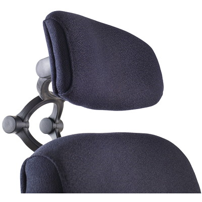 ergoCentric uCentric High-Back Multi-Tilter Ergonomic Chair With Adjustable Headrest ADJUSTABLE HEADREST-SMALL SEAT SMALL SEAT  9009 BLACK