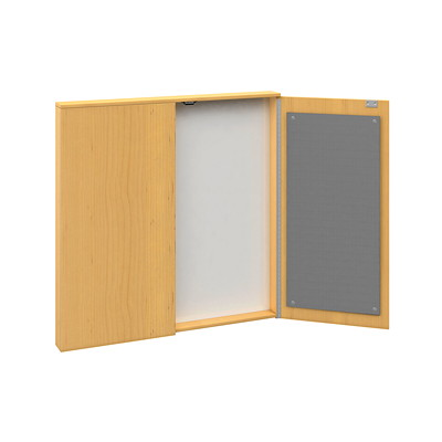 Offices To Go Ionic Presentation Board TIGER MAPLE LAMINATE FINISH