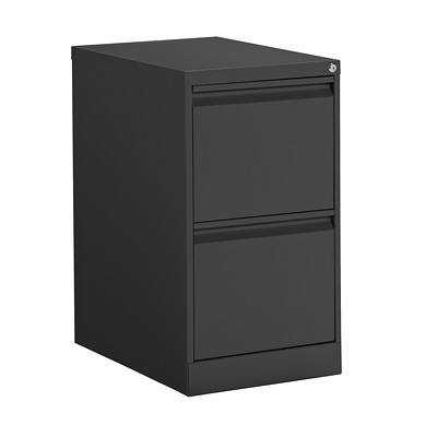 "Offices To Go Mobile Pedestal, Black, 2 Drawer, 15"" x 23"" x 27 4/5"""